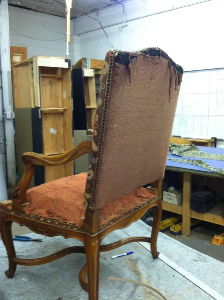 old armchair upholstery