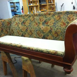 old wooden sofa restoration