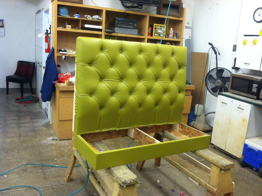 light green leather booth