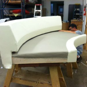 upholstering a round sofa