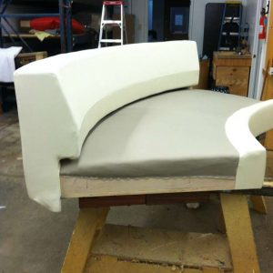 upholstering round sofa pieces