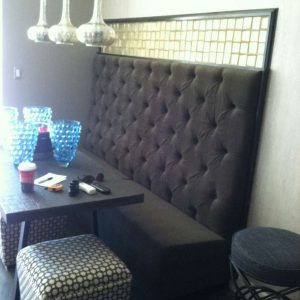 custom grey residential booth