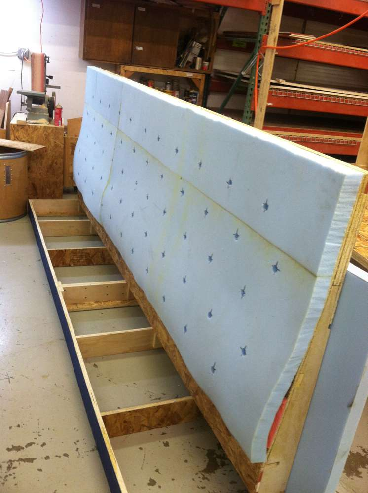 padding on a booth frame
