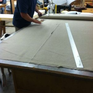cutting upholstery