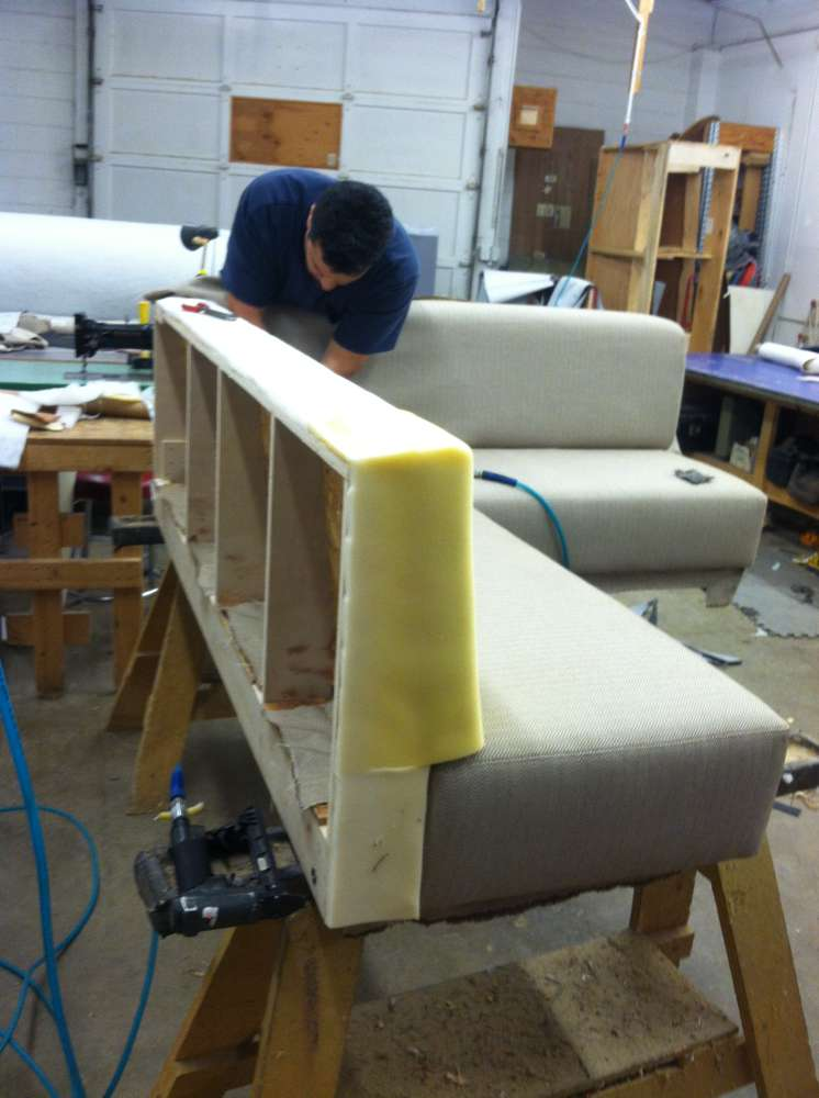 putting padding on a corner sofa