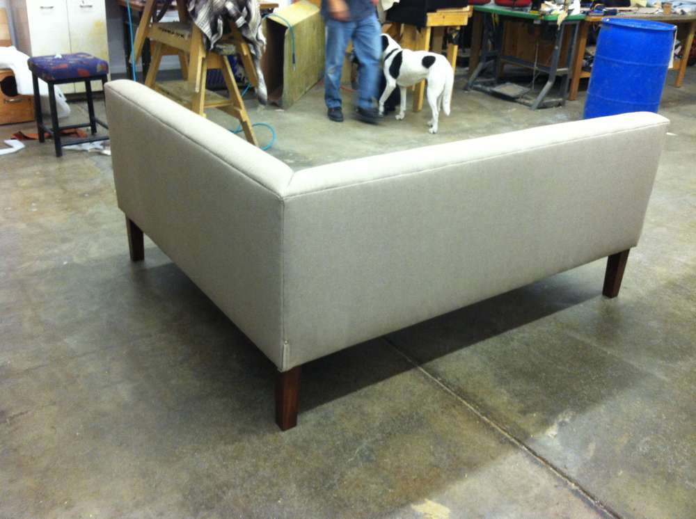 back of a corner sofa