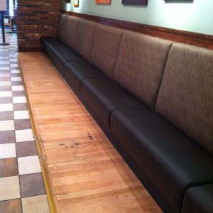 two color Banquette Seating