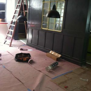 working in bar space