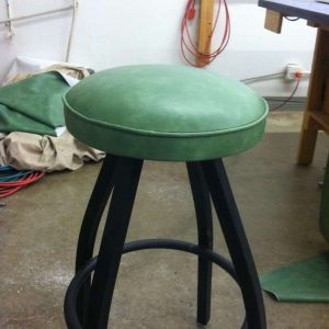 custom mint green stool
