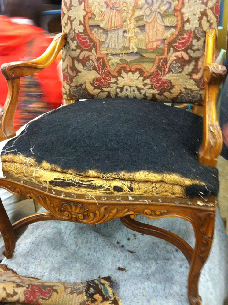 old armchair padding