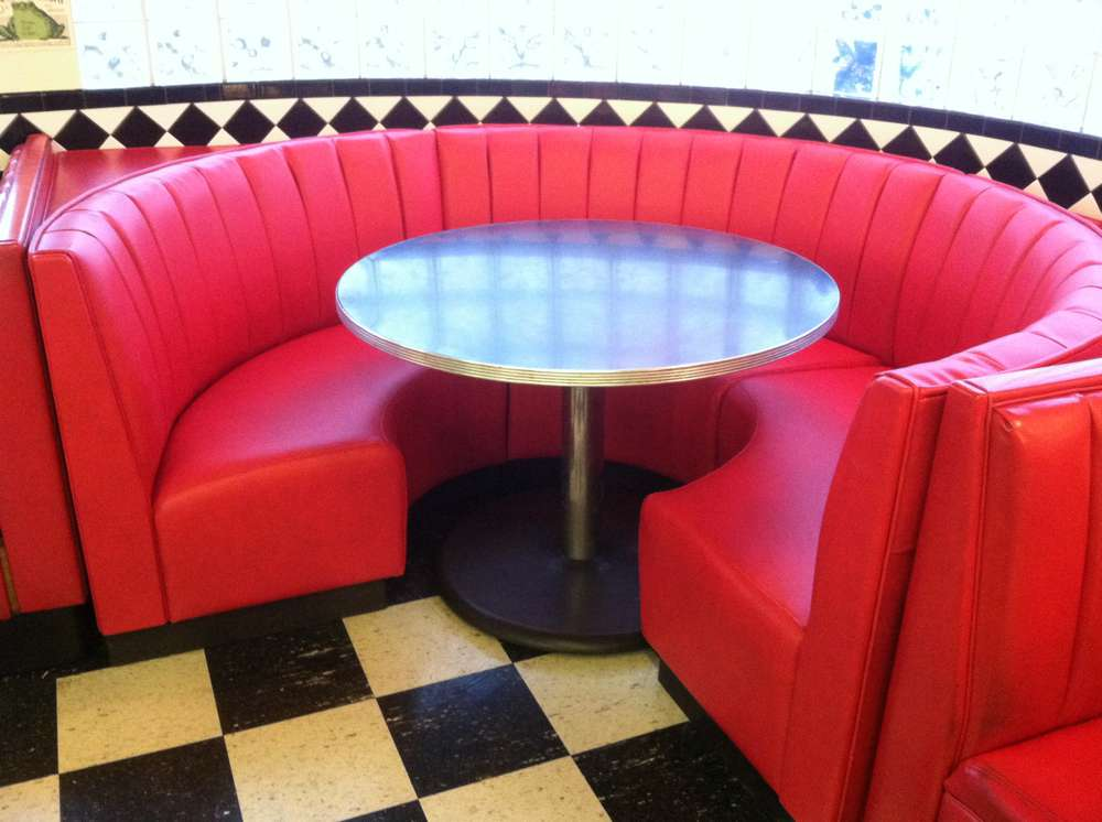 red round booth