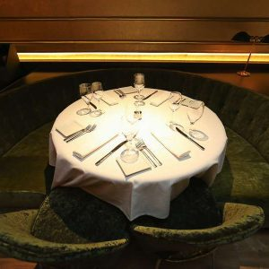 round sofa in the restaurant