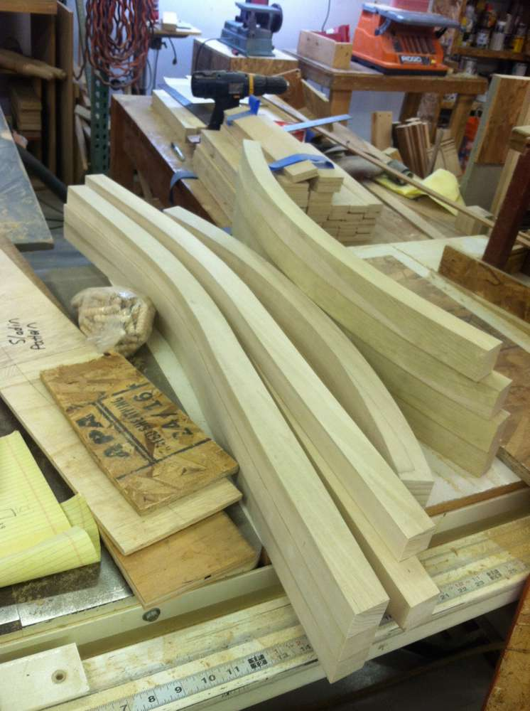 wooden pieces for a frame