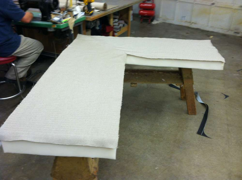 cutting upholstery for sofa